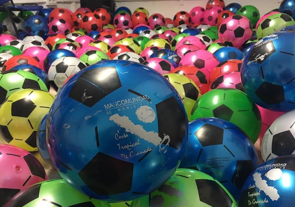 Mancomunidad aporta 3000 balones para las Cabalgatas de Reyes