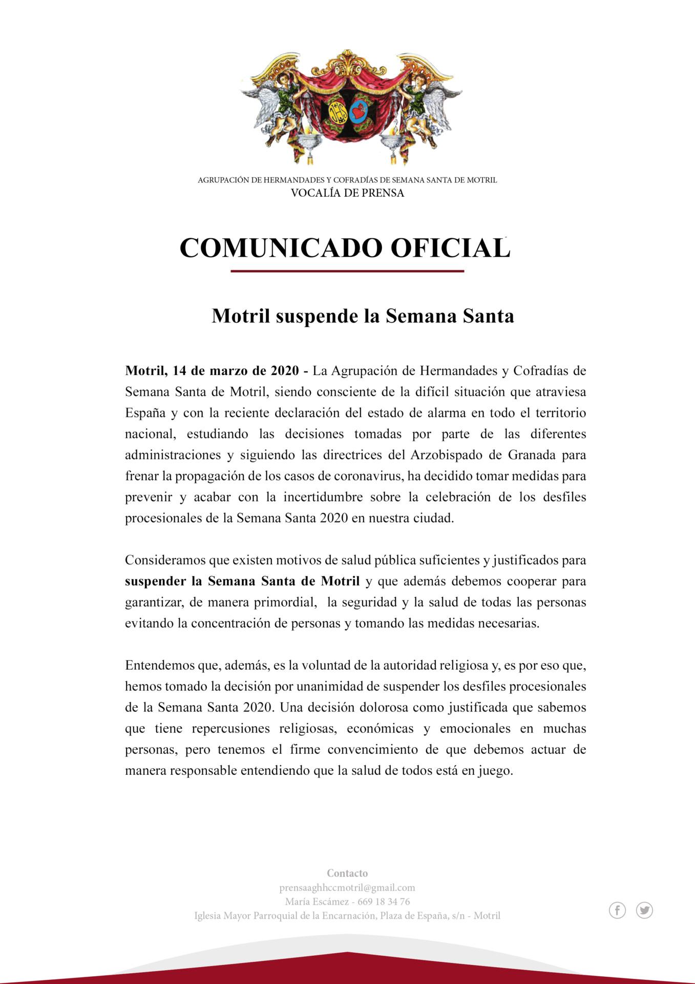 La decisión ha acabado con la incertidumbre ante el crecimiento de los casos de Covid-19 en Andalucía