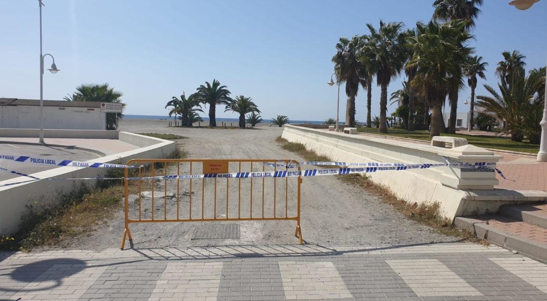 Motril playas precintadas