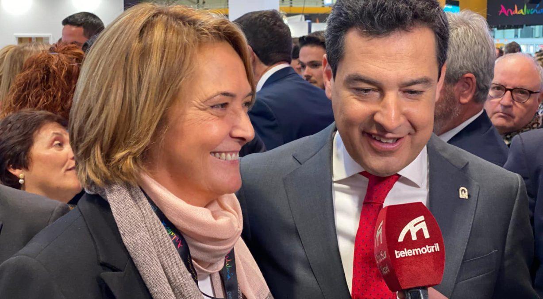 Luisa García Chamorro y Juanma Moreno