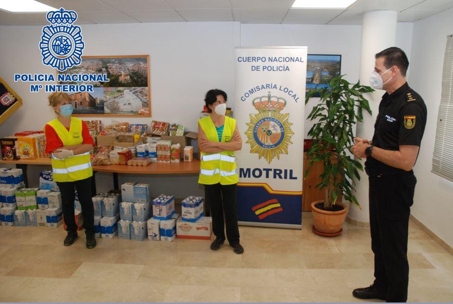 Policía Nacional de Motril alimentos