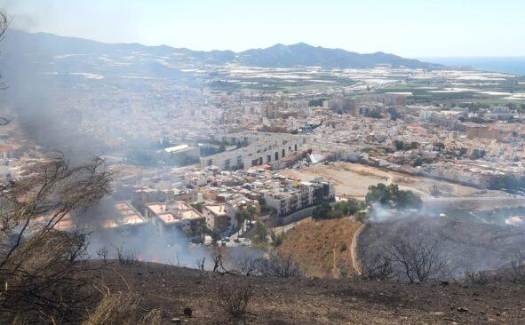 El incendio de Minasierra, en imágenes