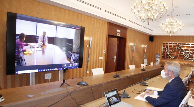 Ambos presidentes, en la reunión telemática celebrada. jpg
