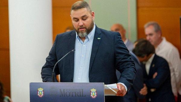 El portavoz de VOX en el Consistori o motrileño, Miguel Ángel López