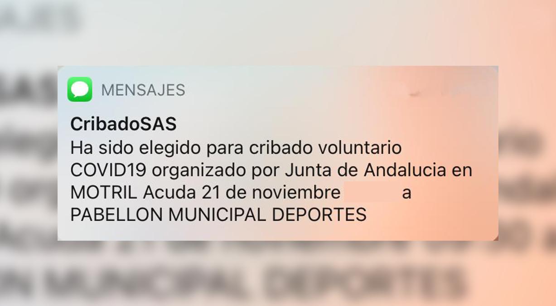Cribado SAS Junta de Andalucía